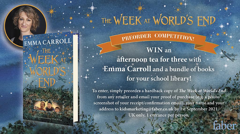 Win an afternoon tea with Emma Carroll!